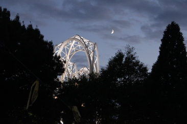 Moon over Pacific Science Center